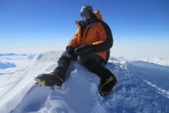 Bill B. in Antarctica on top of Mt.Vinson 2014