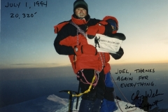 Chip and Sue on Denali 1994 wearing K2 Superlight