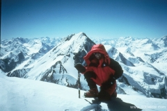 Heidi Howkins on summit of K2 in 1998