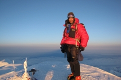 Larry K. on summit of Denali 2011