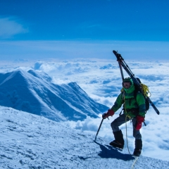 Chris Meder enroute to Denali Summit 2012