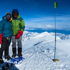 Chris and Liz Meder on top of Alaska!