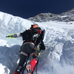 Dave Bottomley wearing Forty Below Fresh Tracks overboots on Denali 2018