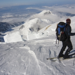 Eben R. Skiing on Denali 2011