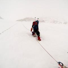 Alex L. on West Buttress headwall Denali 2014 ascent