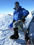 Ted F. wearing 40 Below Purple Haze overboots on Mt.Vinson Antarctica 2009