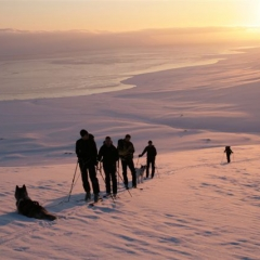 Dr. Lorenz Breitfeld group in Svalbard with Forty Below Fresh Tracks overboots