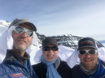 40 Below Bandanas for sun protection in Greenland 2017
