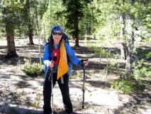 Marcia B. wearing Forty Below Bottle Boot on sternum strap