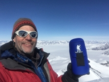 Mountain Guide Eric Simonson with Forty Below Bottle Boots 2017