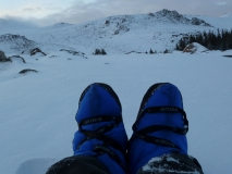 40 Below Camp Booties with a view of the Wind River Range 2013