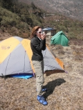 Felice G. wearing FB Camp Booties in Nepal 2012