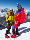 Brad J and Bluse V on Ama Dablam 2011