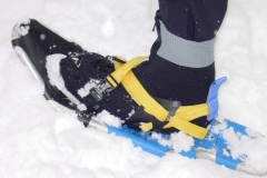 FBLE Shorty overboot with snowshoes