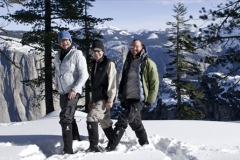 Yosemite group wearing Light Energy overboots