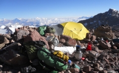 View from Aconcagua with Forty Below Mug Boot