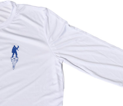 image of the forty below long sleeve shirt white